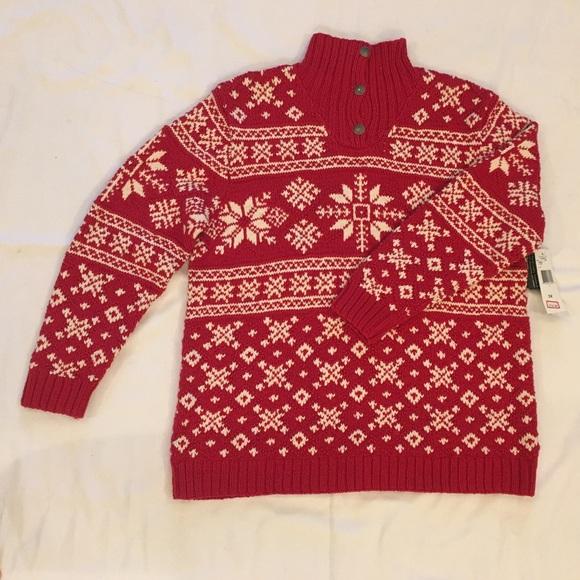 Lauren Ralph Lauren Sweaters - NWT LAUREN RALPH LAUREN Red Knitted Sweater Sz 1X